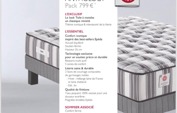 Ensemble MATELAS + SOMMIER ANTHOLOGY